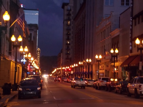 Downtown Gay Street, right outside of Market Square